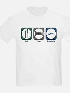 Eat Sleep Excavate T-Shirt