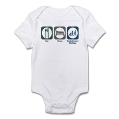 Eat Sleep Evolutionary Biology Infant Bodysuit