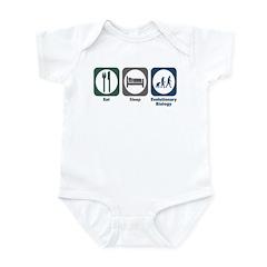 Eat Sleep Evolutionary Biology Infant Bodysuit