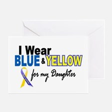 I Wear Blue & Yellow....2 (Daughter) Greeting Card