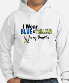I Wear Blue & Yellow....2 (Daughter) Hoodie