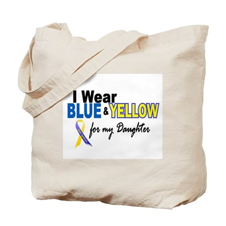 I Wear Blue & Yellow....2 (Daughter) Tote Bag