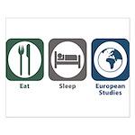 Eat Sleep European Studies Small Poster