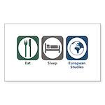Eat Sleep European Studies Rectangle Sticker 50 p