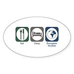 Eat Sleep European Studies Oval Sticker (50 pk)