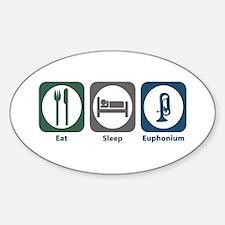 Eat Sleep Euphonium Oval Decal