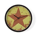 Rusty Star Wall Clock
