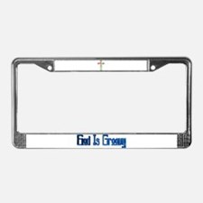 Cute Winged cross License Plate Frame