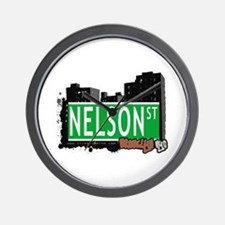 NELSON ST, BROOKLYN, NYC Wall Clock