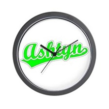 Retro Ashtyn (Green) Wall Clock