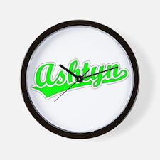 Retro Ashtyn (Green) Wall Clock
