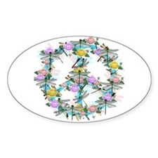 Dragonfly Peace Sign Decal