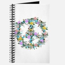 Dragonfly Peace Sign Journal