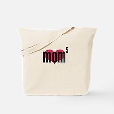 Mom of Five Tote Bag