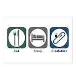 Eat Sleep Escalators Postcards (Package of 8)