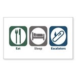 Eat Sleep Escalators Rectangle Sticker 10 pk)