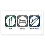 Eat Sleep Escalators Rectangle Sticker