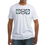 Eat Sleep Escalators Fitted T-Shirt