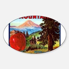 Mountain Oval Decal