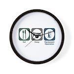 Eat Sleep Equipment Operation Wall Clock