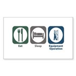 Eat Sleep Equipment Operation Rectangle Sticker 5