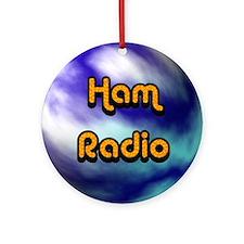 Ham Radio (earth) Ornament (Round)