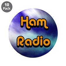 "Ham Radio (earth) 3.5"" Button (10 pack)"