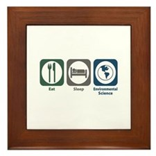 Eat Sleep Environmental Science Framed Tile