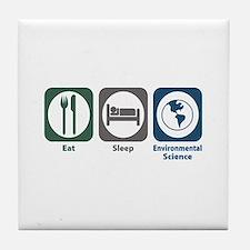 Eat Sleep Environmental Science Tile Coaster