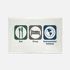 Eat Sleep Environmental Science Rectangle Magnet