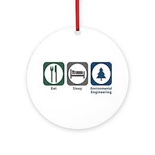 Eat Sleep Environmental Engineering Ornament (Roun