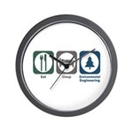 Eat Sleep Environmental Engineering Wall Clock