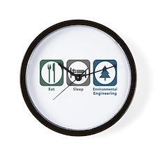 Eat Sleep Environmental Engineering Wall Clock
