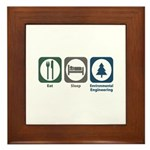 Eat Sleep Environmental Engineering Framed Tile