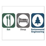 Eat Sleep Environmental Engineering Small Poster
