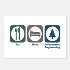 Eat Sleep Environmental Engineering Postcards (Pac