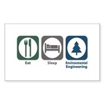 Eat Sleep Environmental Engineering Sticker (Recta