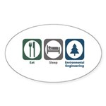Eat Sleep Environmental Engineering Sticker (Oval
