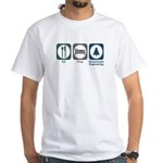 Eat Sleep Environmental Engineering White T-Shirt
