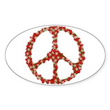 Ladybugs Peace Sign Decal
