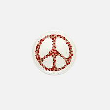 Ladybugs Peace Sign Mini Button