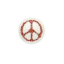 Ladybugs Peace Sign Mini Button (10 pack)