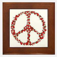 Ladybugs Peace Sign Framed Tile