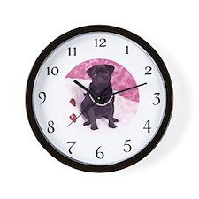Cute Pugs Wall Clock