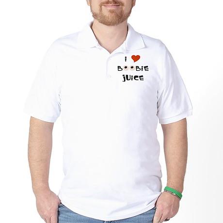 100% Natural Boobie Juice ~ Golf Shirt