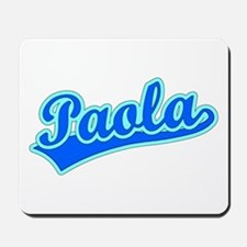 Retro Paola (Blue) Mousepad