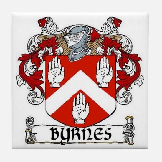 Byrnes Coat of Arms Tile Coaster