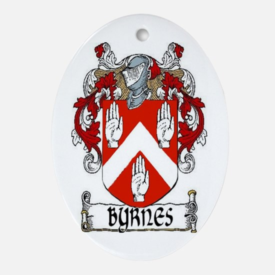 Byrnes Coat of Arms Ornament (Oval)