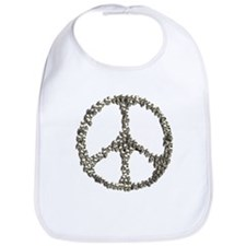 Skulls Peace Sign Bib
