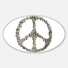Skulls Peace Sign Decal